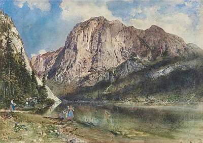 Painting - Altaussee Lake And Face Of Mount Trissel by Rudolf von Alt