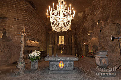Pop Art Rights Managed Images - Alter in St. Kingas Chapel inside Wieliczka salt mine in Poland Royalty-Free Image by Michal Bednarek