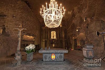 Photograph - Alter In St. Kinga's Chapel Inside Wieliczka Salt Mine In Poland by Michal Bednarek