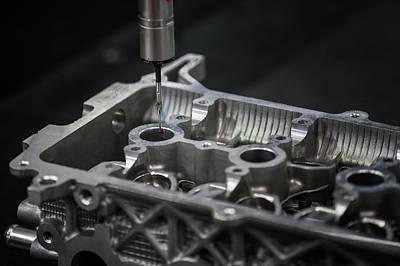Aluminium Auto Part Inspection By Cmm Dimension Check Machine Art Print by Anek Suwannaphoom