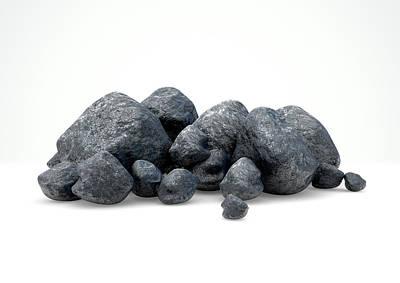 Precious Digital Art - Aluminum Nugget Collection by Allan Swart