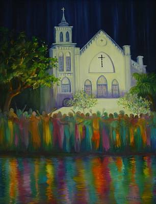 Art Print featuring the painting Amazing Grace by Dorothy Allston Rogers