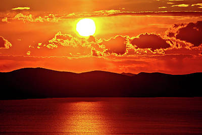 Photograph - Amazing Sunset Above Pasman Island by Brch Photography