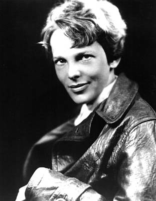 Amelia Earhart, Portrait Print by Everett