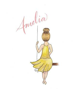Painting - Amelia No Background by Betsy Hackett