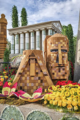 Photograph - American Armenian Rose Float by David Zanzinger
