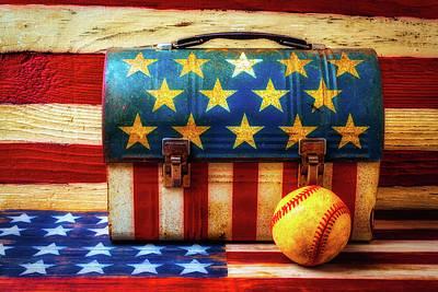 American Baseball Art Print by Garry Gay