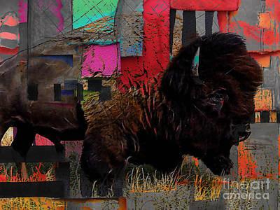 Buffalo Mixed Media - American Buffalo Collection by Marvin Blaine