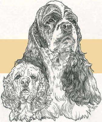 Mixed Media - American Cocker Spaniel by Barbara Keith