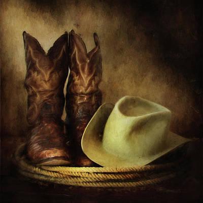 Photograph - American Cowboy by David and Carol Kelly