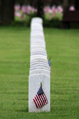 Photograph - American Flag Calverton New York by Bob Savage