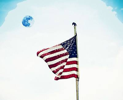 Painting - American Flag by Celestial Images