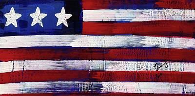 Painting - American Flag Fl-06-fc-16 by Richard Sean Manning