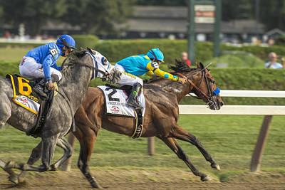 American Pharoah Photograph - American Pharoah - Travers Stakes 2015 - Saratoga Springs, New York by Styles Bridges