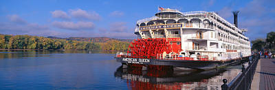 Watercraft Photograph - American Queen Paddlewheel Ship by Panoramic Images