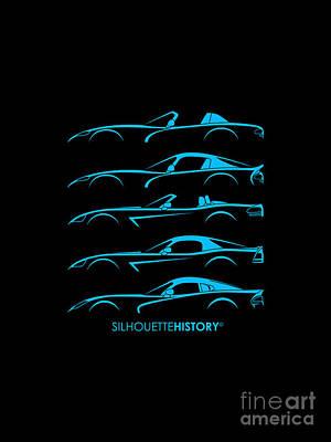 Viper Digital Art - American Snakes Silhouettehistory by Gabor Vida