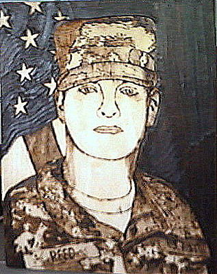 Pyrography Pyrography - American Soldier by Timothy Wilkerson