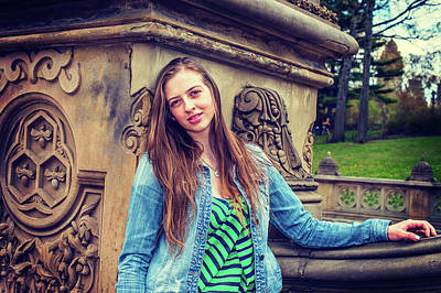 Photograph - American Teenage Girl Missing You At Central Park In New York by Alexander Image