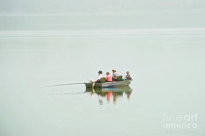 Photograph - Amish Fishermen by David Arment