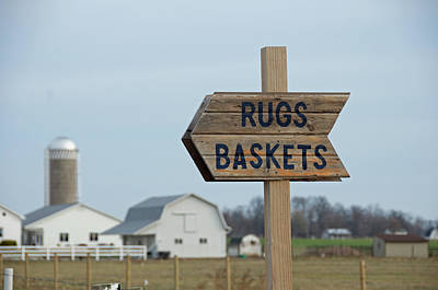 Amish Photograph - Amish Sign by David Arment
