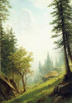Among The Bernese Alps Print by Albert Bierstadt