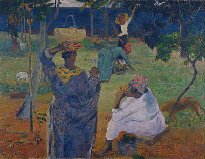 Fruit Tree Art Painting - Among The Mangoes At Martinique by Paul Gauguin