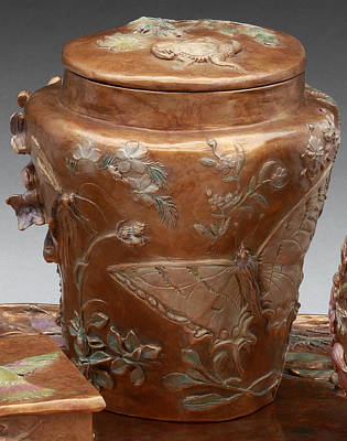 Sculpture - Among The Sagebrush - Bronze Vase With Lid by Dawn Senior-Trask