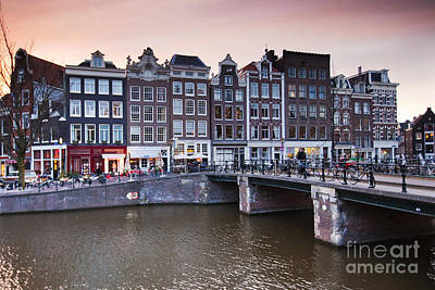 Amsterdam At Sunset Art Print by Andre Goncalves