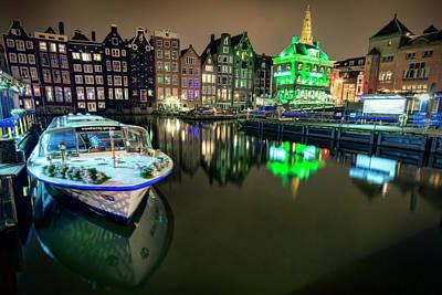 Amsterdam Canal Art Print by Nadia Sanowar