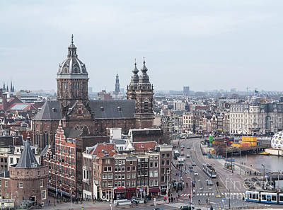 Photograph - Amsterdam View With St.nicolaaschurch by Patricia Hofmeester