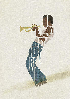 Digital Art - Miles Davis Typography Art by Inspirowl Design