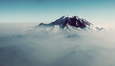 An Aerial View Of Mount Rainier Art Print