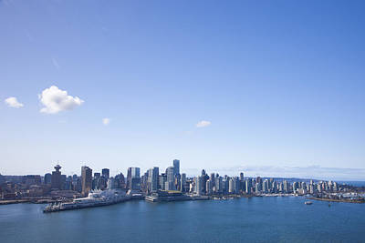 An Aerial View Of The City Of Vancouver Art Print by Taylor S. Kennedy