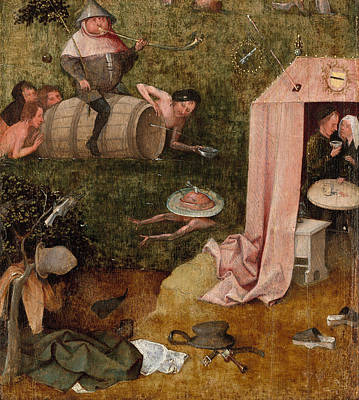 Moral Painting - An Allegory Of Intemperance by Hieronymus Bosch