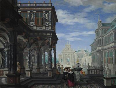 Digital Art - An Architectural Fantasy by Dirck van Delen