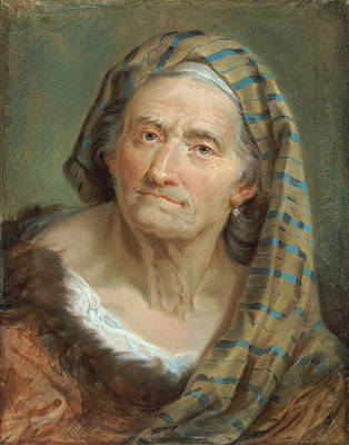 Painting - An Elderly Woman In A Striped Shawl by Giuseppe Nogari