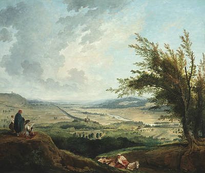 Painting - An Extensive Landscape Near Paris by Hubert Robert
