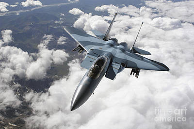 An F-15c Aggressor Flies Art Print by Stocktrek Images