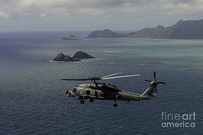 Fast Painting - An Mh-60r Sea Hawk Helicopter by Celestial Images