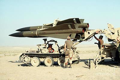 An Mim-23b Hawk Surface-to-air Missile Art Print by Stocktrek Images