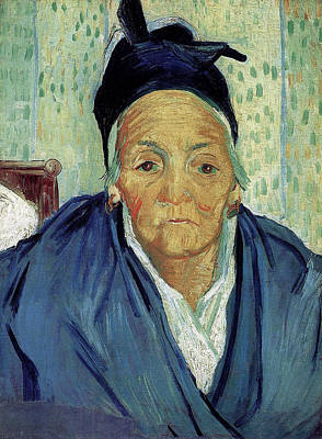 Close Up Painting - An Old Woman Of Arles by Vincent van Gogh