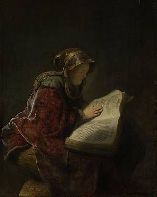 Painting - An Old Woman Reading by Celestial Images