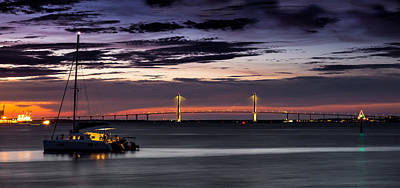 Photograph - Anchored In The Harbor - Charleston Sc by Donnie Whitaker