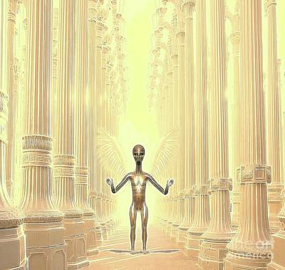 Angel Digital Art - Ancient Alien Angel by Raphael Terra
