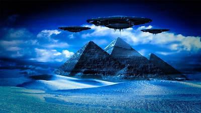 Fantasy Digital Art - Ancient Aliens by Raphael Terra by Raphael Terra