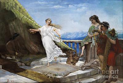 Ancient Dances Painting - Ancient Dance Scene  by Celestial Images