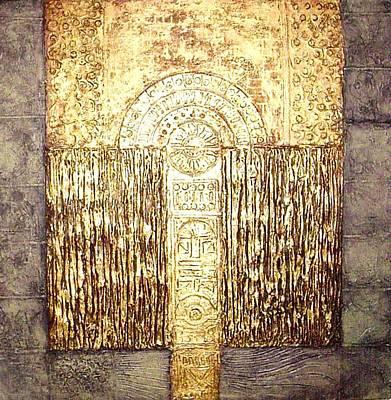 Art Print featuring the painting Ancient Golden Temple by Bernard Goodman