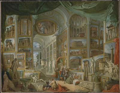 Giovanni Paolo Panini Painting - Ancient Rome  by Celestial Images