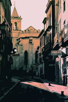Painting - Ancient Street Of Seville by Andrea Mazzocchetti