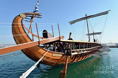 Sail Photograph - Ancient Trireme by George Atsametakis